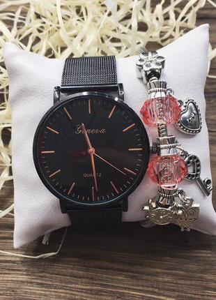 Наручные часы - чёрные,ч-100