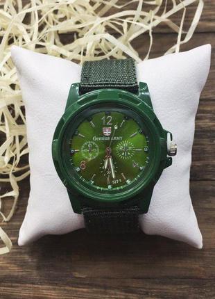 Наручные часы - в стиле gemius army (зеленые)