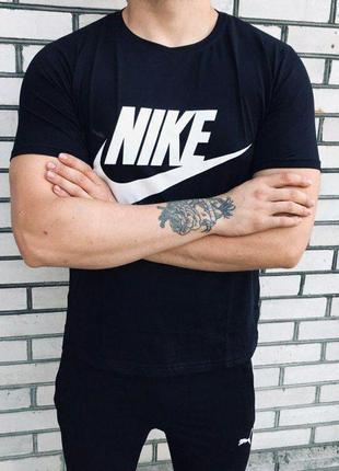Мужская футболка - в стиле nike {синяя}