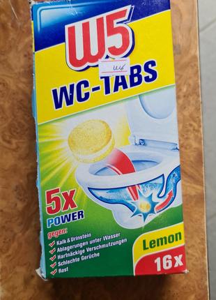 Таблетки для унитаза W5 WC-Tabs 16 шт Lemon