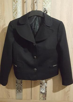 Классический теплый пиджак большой размер л/хл