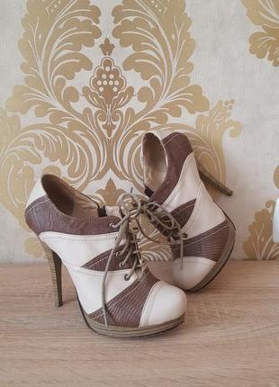 Ботильоны \ботиночки со шнуровкой