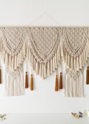 Макраме-панно / Декор для дома и интерьера / Настенное украшение