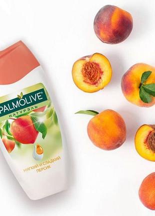 Гель-крем для душу palmolive натурель м'який і солодкий персик...