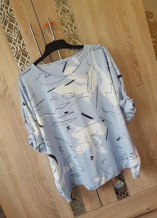 Нежная трикотажная блуза (большой размер ) 20-22