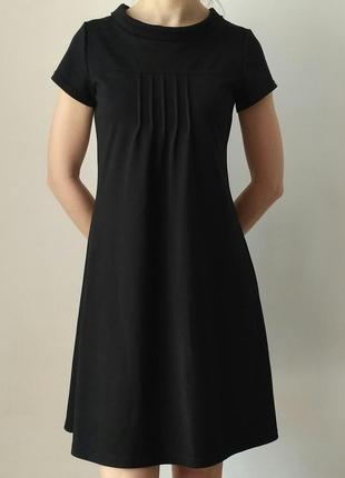 Стильное повседневное платье-сарафан колокольчик с карманами