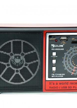 Радиоприемник GOLON RX-002BT, 3W, FM радио, Входы microSD, USB...