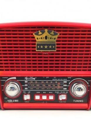 Радиоприемник GOLON RX-455S SOLAR, LED,3W, FM радио, Входы mic...