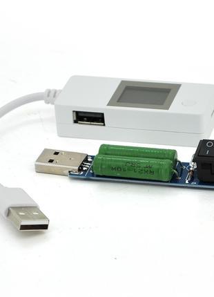 USB тестер LCDV03 напряжения (4-15V) и тока (0-4A) с проводом ...