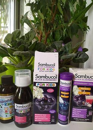 Sambucol черная бузина для детей сироп шипучка california gold...