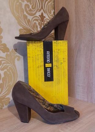 Базовые классические босоножки на широкую ножку устойчивый каб...