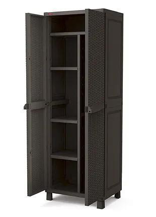 Шкаф садовый шафа гардеробна Keter коричневый, 65 х 45 х 177 см