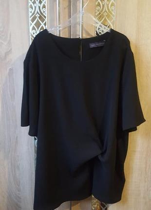 Шикарная блуза большого размера с декором