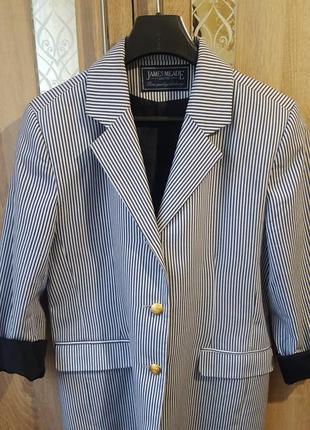 Актуальный пиджак в полоску\ морской стиль жакет