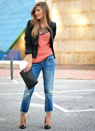 Оригинальные турецкие джинсы с потертостями