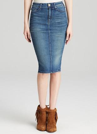 Базовая миди юбка каранадш, джинсовая миди юбка