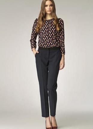 Базовые черные брючки, узкие классические брюки, теплые брючки