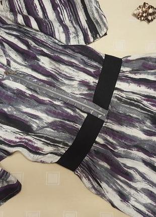 Брендовое платье из натурального льна стильного принта