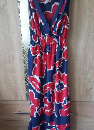Стильное цветочное платье сарафан