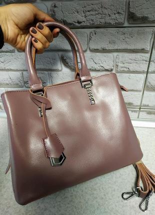 Кожаная шикарная сумочка