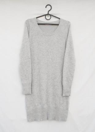 Осеннее зимнее вязаное теплое платье с рукавом с ангоркой и с ...