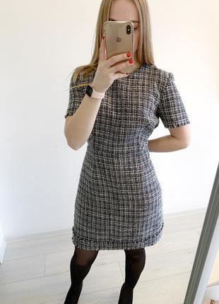 Твидовое платье в клетку