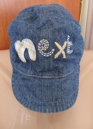 Крутая джинсовая кепка на малюка