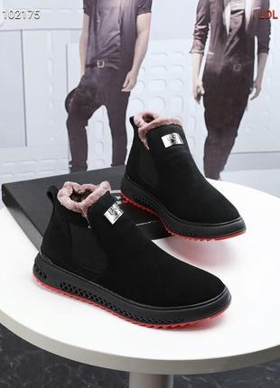 Зимние мужские ботинки ugg натур.замша
