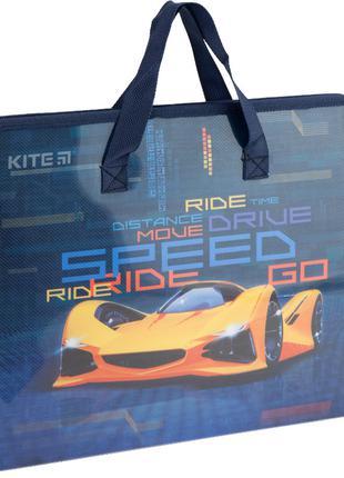 Папка-портфель А4 на блискавці Kite Fast Cars 1 відділення K20...