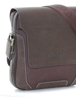 Мужские кожаные бизнес сумки  polo videng