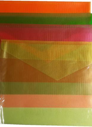 Папка конверт А4 напівпрозора колір асорті ПВХ 150 мкм Tascom ...