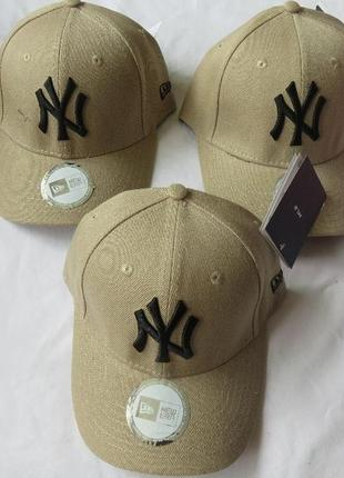 Шерстяные кепки бейсболки new york  осень-весна