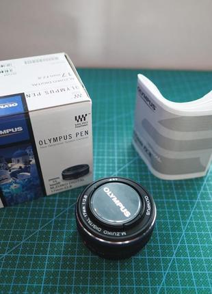 Объектив Olympus M.Zuiko 17mm f/2.8 Pancake black
