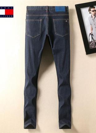 Зимние утепленные мужские джинсы tommy hilfiger