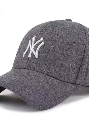 Зимние бейсболки кепки new york mlb шерсть оригинал