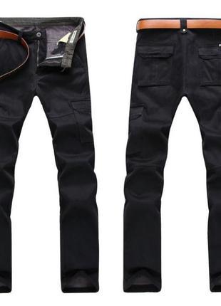 Зимние теплые мужские штаны брюки на флисе  jeep