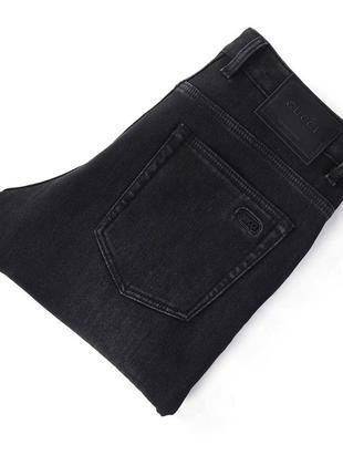 Зимние утепленные мужские джинсы gucci