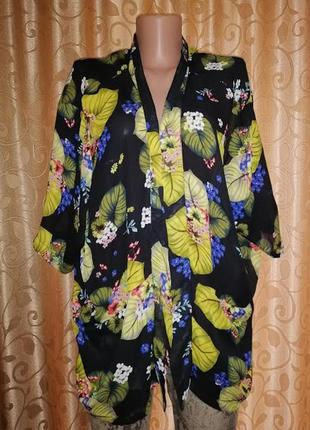 🌺🎀🌺стильная женская шифоновая кофта, кардиган, кимоно в цветоч...