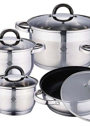 Гармоничный и весьма полезный набор кухонной посуды RENBERG Alex.