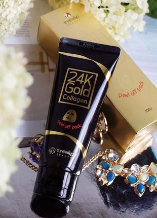 Маска-пленка для лица с золотом и коллагеном eyenlip 24k gold ...
