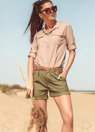 🔥🔥🔥стильные короткие, легкие женские шорты с отворотом dorothy...