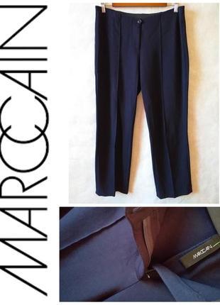 Marc cain- женские брендовые брюки тёмно синие со стрелками