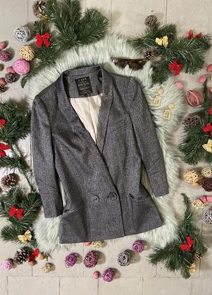 Актуальный приталенный двубортный пиджак #4