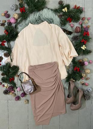 Актуальная мини юбка с драпировкой №43max