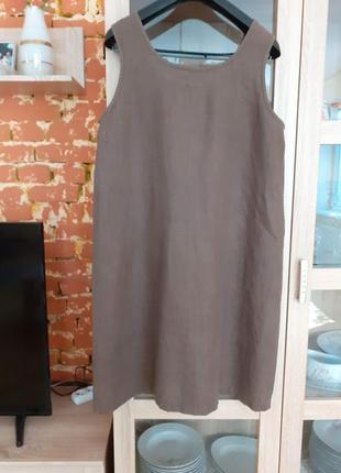 Милое льняное платье большого размера