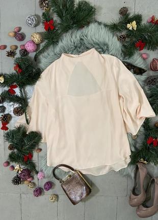 Актуальная шифоновая блуза оригинального покроя №96max
