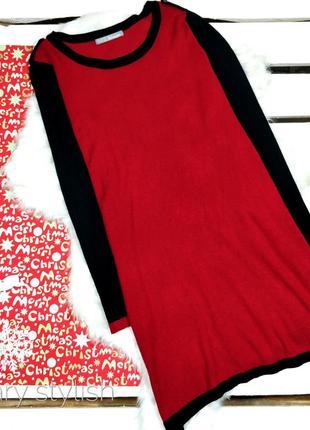 Теплое платье красно-черное m&s