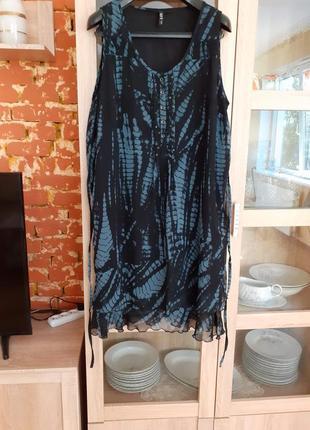 Роскошное платье с воланом большого размера