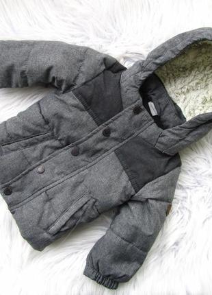 Стильная теплая куртка с капюшоном h&m