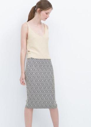 Супер стильная юбка/миди/карандаш по фигуре zara trafaluc